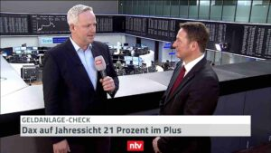 <small><em> 23. Oktober 2019: n-tv Telebörse</em></small><br/>Hartmut Jaensch: Dax auf Jahressicht 21 Prozent im Plus!
