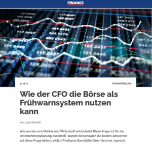 Hartmut Jaensch zu prediqma im Finance Magazin Interview