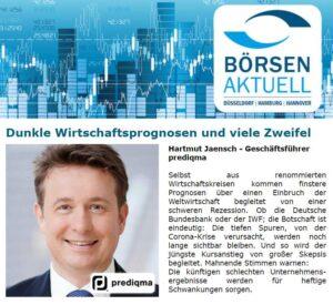 Hartmut Jaensch zur Rezession