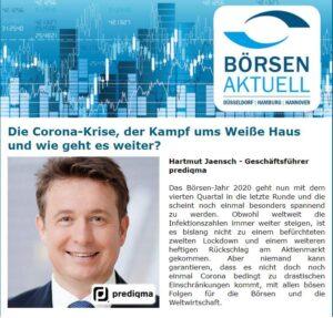 Hartmut Jaensch über Unsicherheit an der Börse