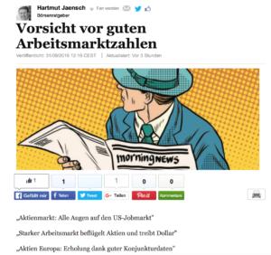 """<small><em>31. August 2016: Huffington Post</em></small><br/>""""Vorsicht vor guten Arbeitsmarktzahlen!"""""""